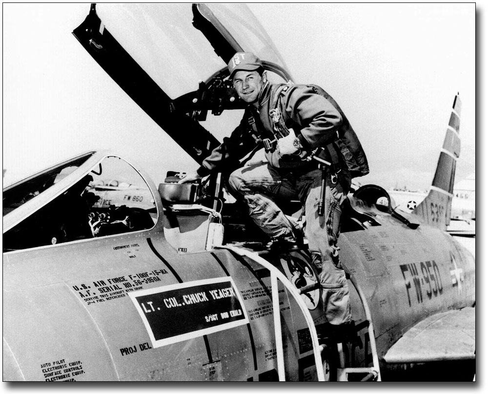 X-1 FLIGHT TEAM CHUCK YEAGER /& OTHERS 8x10 SILVER HALIDE PHOTO PRINT