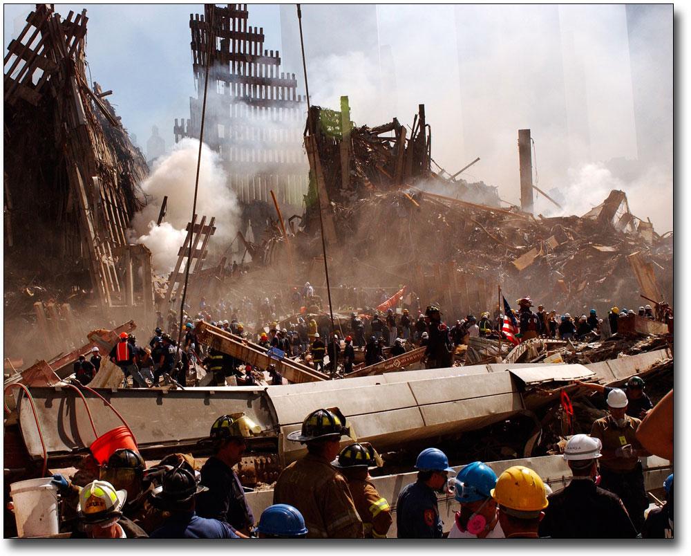 9//11 Search For Survivors World Trade Center WTC Silver Halide Photo