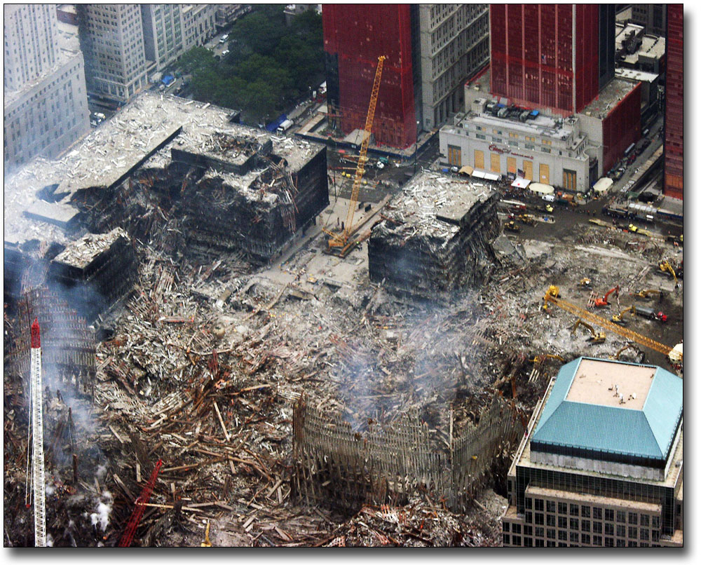 SOUTH TOWER RUINS WTC NEW YORK 9//11 8x10 SILVER HALIDE PHOTO PRINT