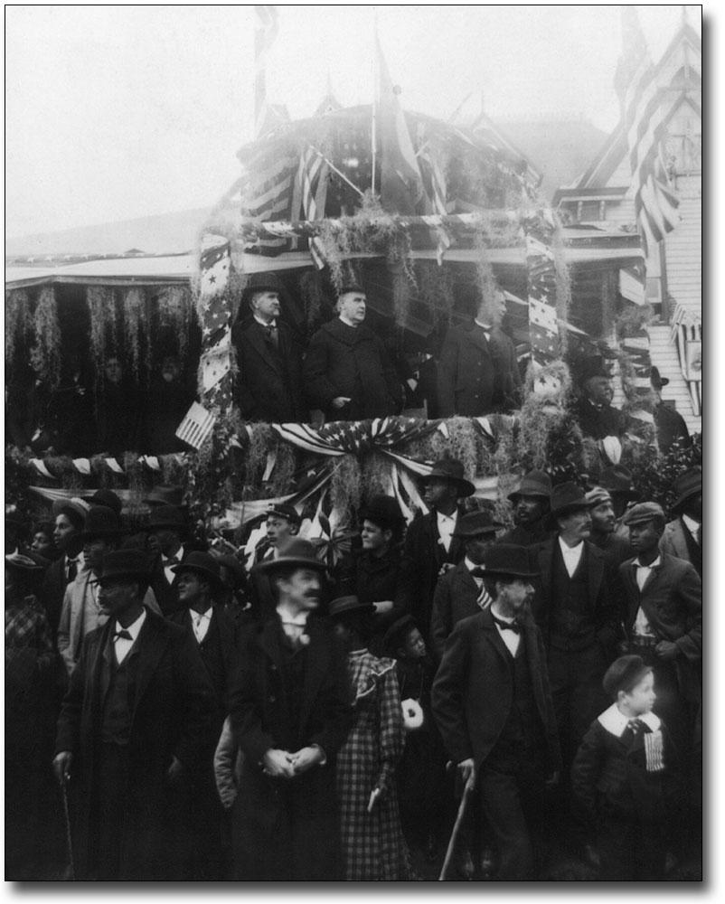 PRESIDENT WILLIAM MCKINLEY FUNERAL TRAIN 8x10 SILVER HALIDE PHOTO PRINT