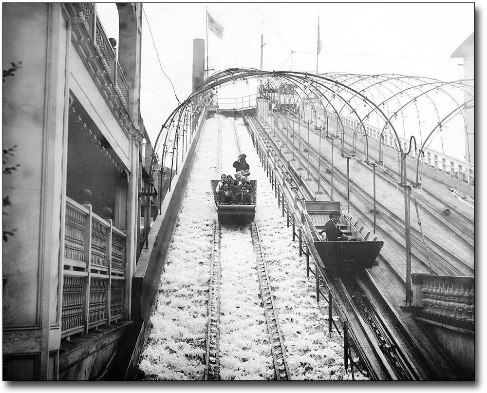 LUNA PARK AT NIGHT CONEY ISLAND NY 1904 8x10 SILVER HALIDE PHOTO PRINT