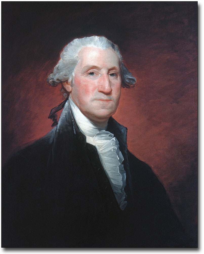 GEORGE WASHINGTON MEZZOTINT PORTRAIT 8x10 SILVER HALIDE PHOTO PRINT