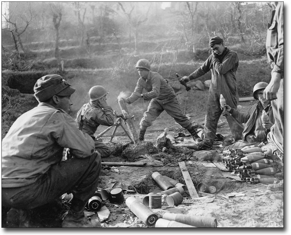 Details about WWII AMERICAN SOLDIERS FIRING MORTAR ROUNDS 11x14 SILVER  HALIDE PHOTO PRINT