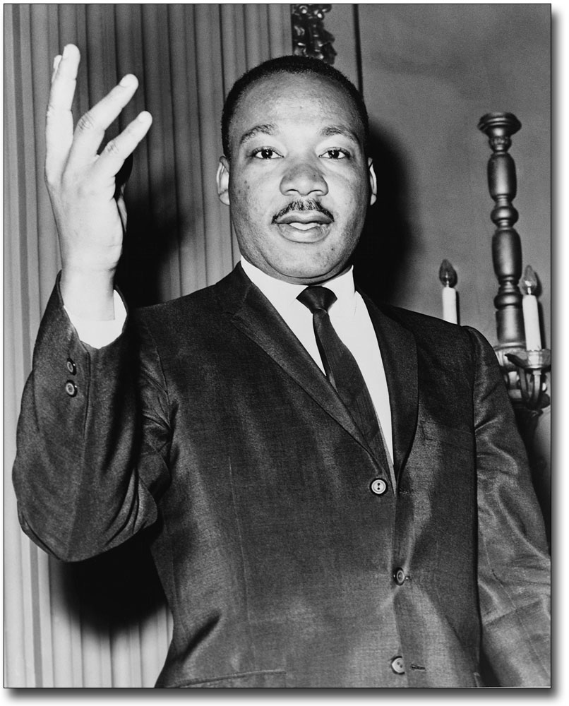 MARTIN LUTHER KING PORTRAIT 1964 11x14 SILVER HALIDE PHOTO PRINT JR
