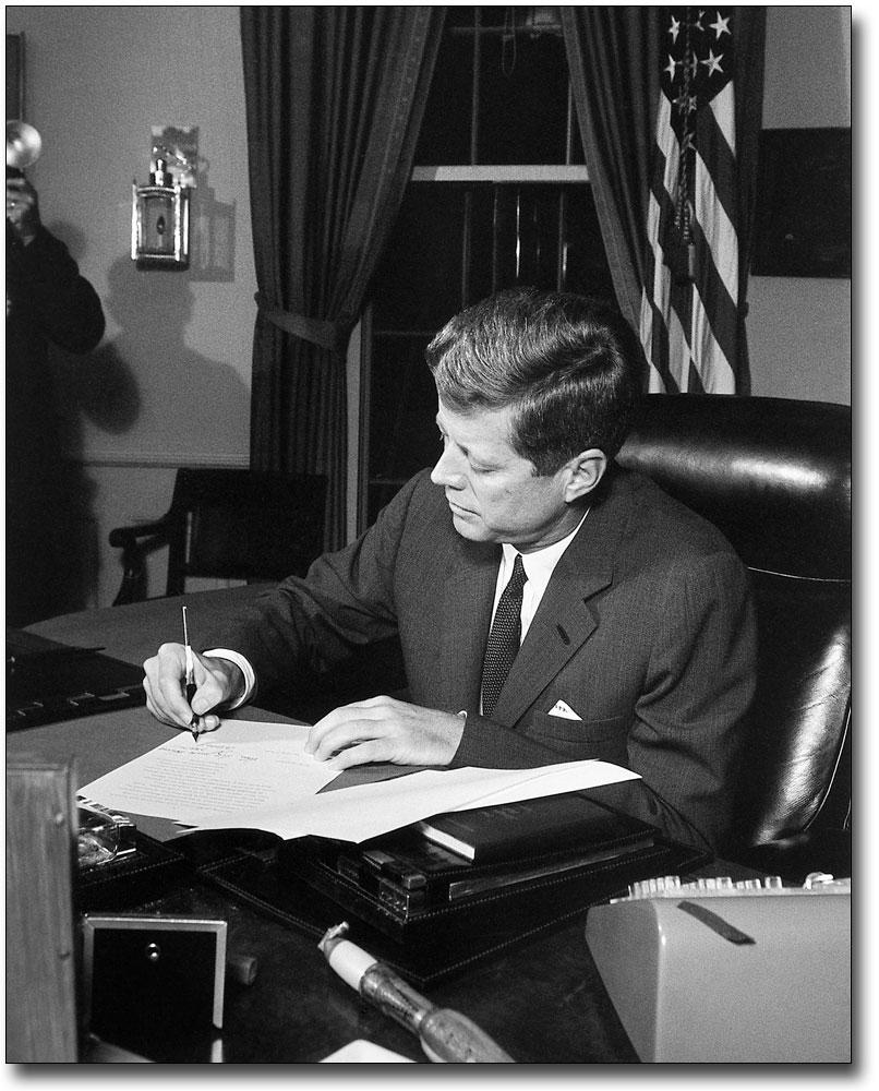 President John F Kennedy Official White House Portrait Silver Halide Photo
