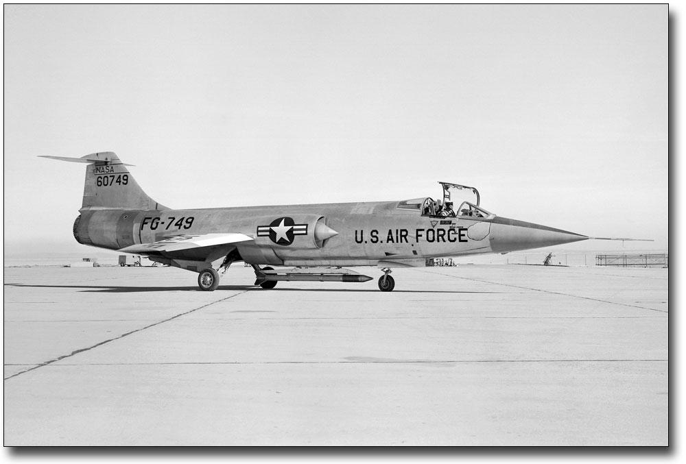 US Air Force USAF NASA JF-104A Starfighter8X12 PHOTOGRAPH NASA A