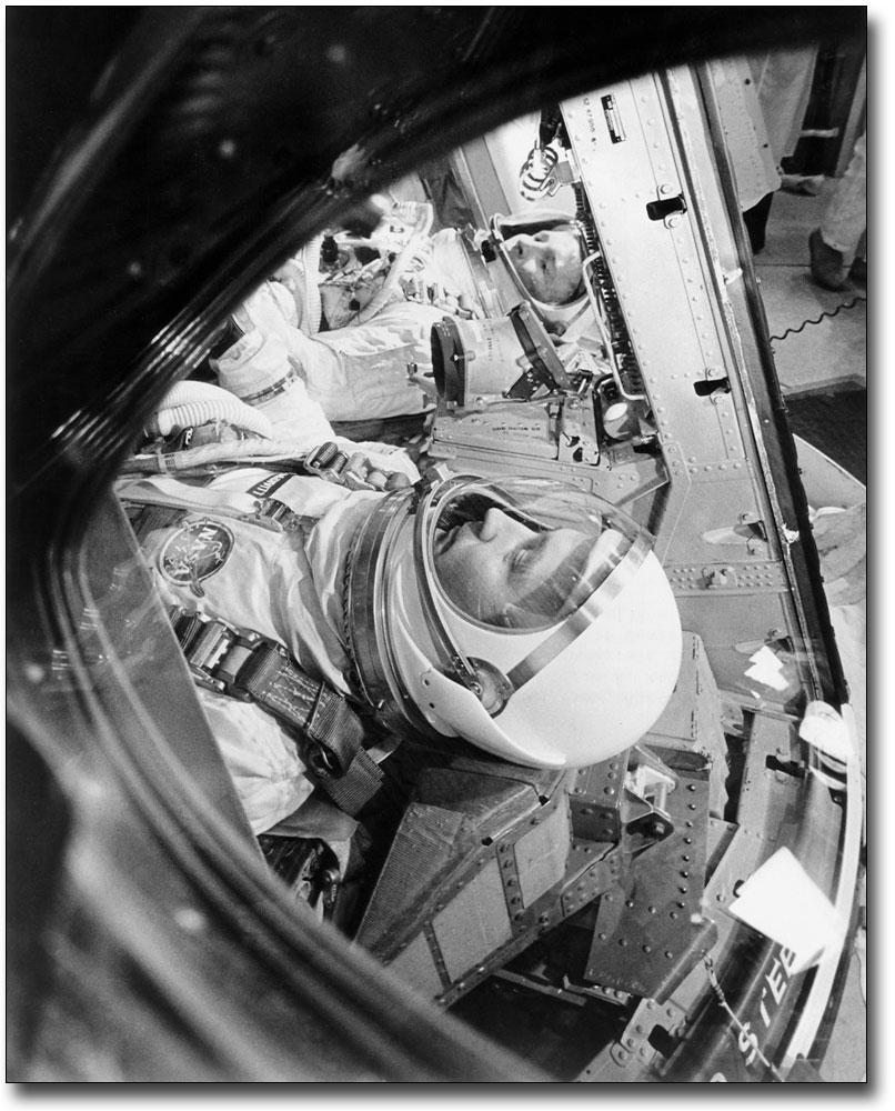 Gemini 4 Astronauts McDivitt & White in Capsule Photo