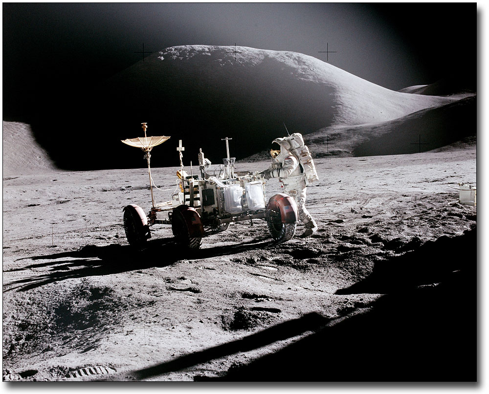 The Best Apollo 17 Rover W/ Lunar Module On Moon 8x10 Silver Halide Photo Print Exploration Missions