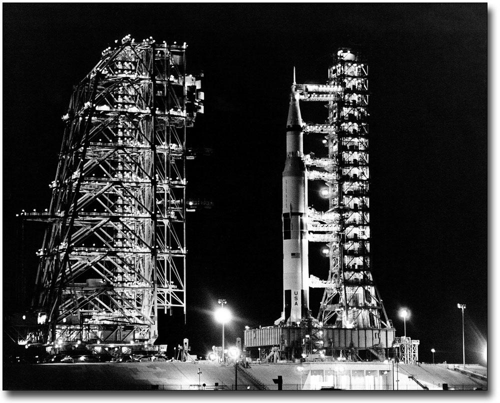 APOLLO 14 SATURN V ROCKET LAUNCH NASA 11x14 SILVER HALIDE PHOTO PRINT