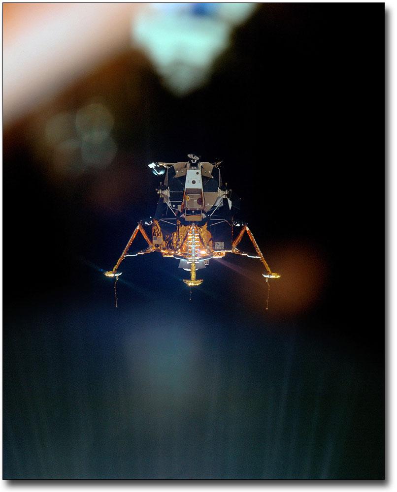 APOLLO 11 LUNAR MODULE ON MOON 8x10 SILVER HALIDE PHOTO PRINT