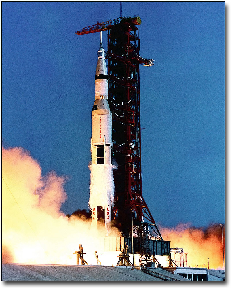 APOLLO 11 SATURN V 1ST STAGE SEPARATION 8x10 SILVER HALIDE PHOTO PRINT