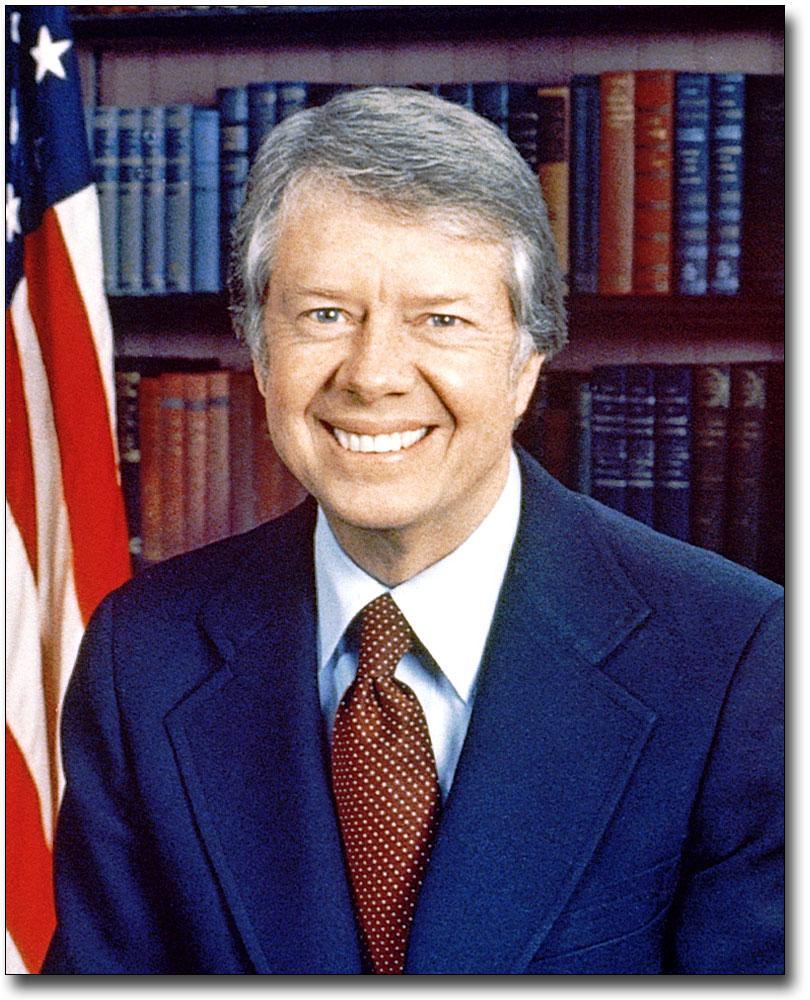 U.S. PRESIDENT JIMMY CARTER PORTRAIT 11x14 SILVER HALIDE