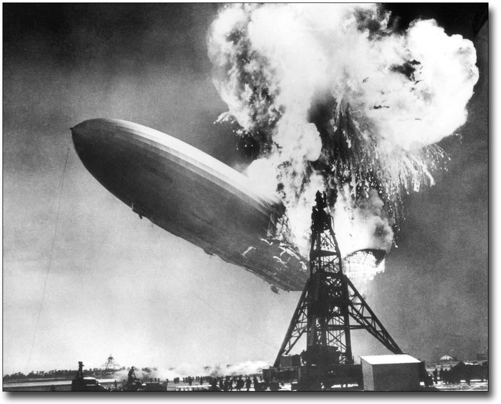 "New Jersey 11 x 14/""  Photo Print The Hindenburg Lakehurst"