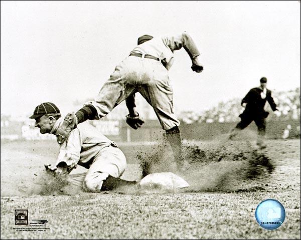 Ty Cobb Slide Detroit Tigers Baseball Photo Print for Sale