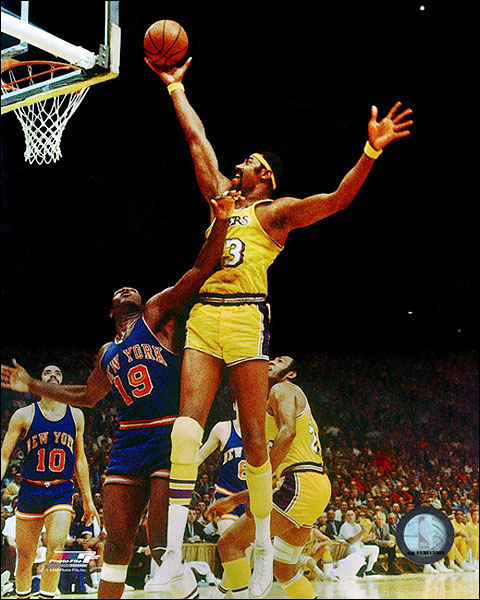 Wilt Chamberlain Dunk Lakers Basketball Photo Print For Sale