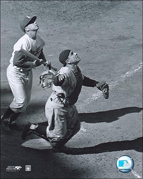 Yankees Baseball Player Yogi Berra Catching Photo Print for Sale