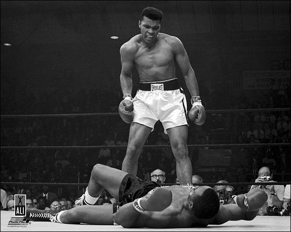 Boxer Muhammad Ali Knocks Out Sonny Liston Photo Print for Sale
