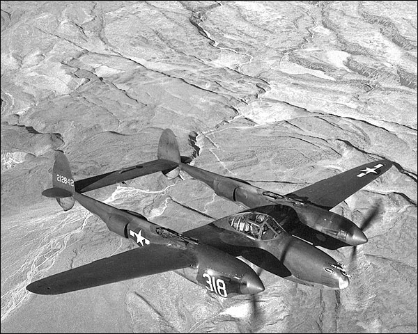 Lockheed P-38 Lightning Aircraft WWII Photo Print for Sale