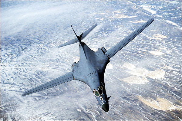 B-1 / B-1B Lancer Bomber Banking Photo Print for Sale