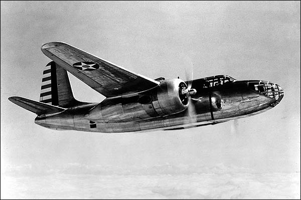 A-20 Havoc in Flight from Below WWII Photo Print for Sale