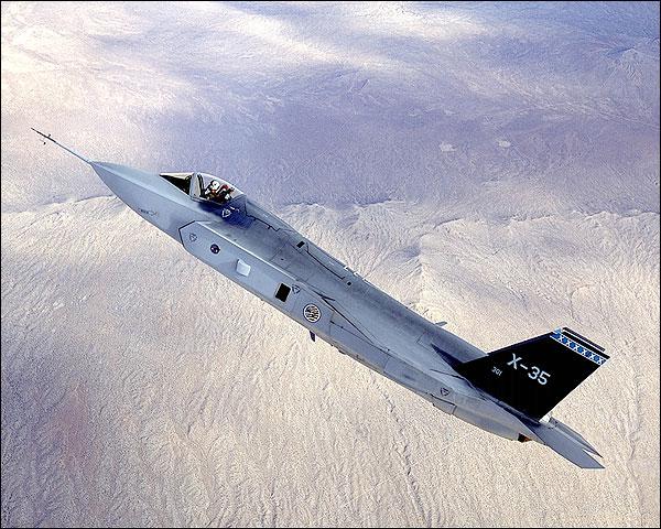 Lockheed Martin X-35 / F-35 in Flight Photo Print for Sale