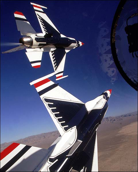 USAF Thunderbirds Cockpit Flight View Photo Print for Sale