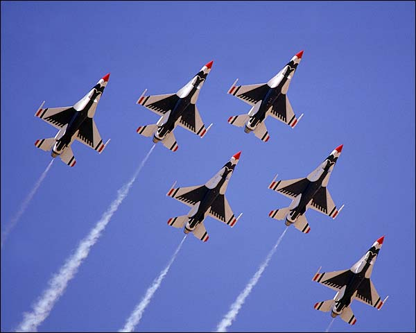 U.S. Air Force Thunderbirds Formation Photo Print for Sale