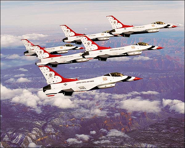 U.S. Air Force Thunderbirds Grand Canyon Photo Print for Sale