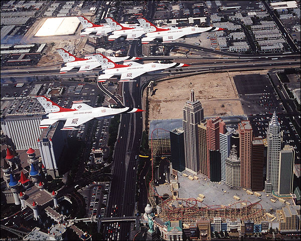 U.S. Air Force Thunderbirds Las Vegas Photo Print for Sale