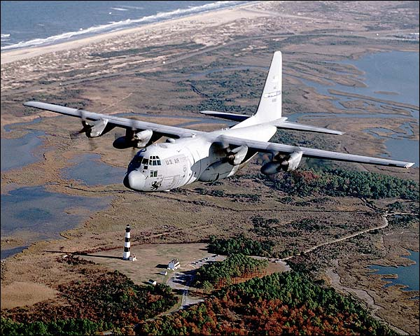 C-130 Hercules Transport Aircraft in Flight Photo Print for Sale