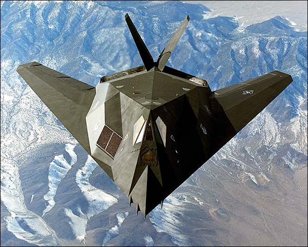 F-117 Stealth Fighter in Flight Photo Print for Sale