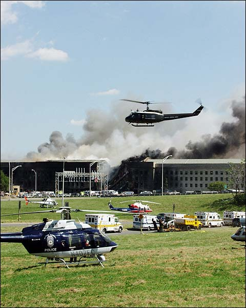 9/11 Pentagon Attack Fire & Rescue Photo Print for Sale