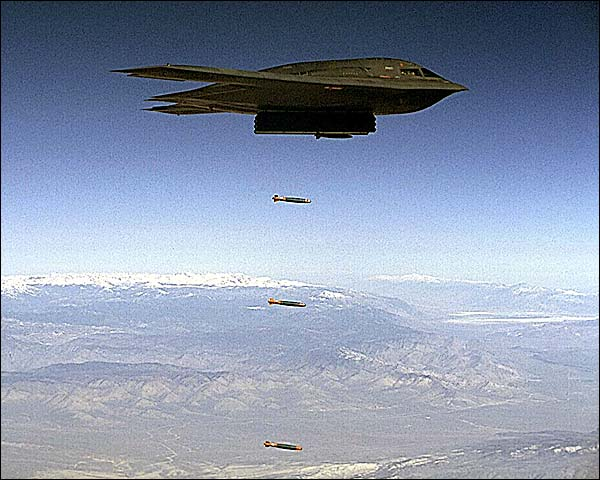B-2 Spirit Stealth Bomber Dropping Bombs Photo Print for Sale