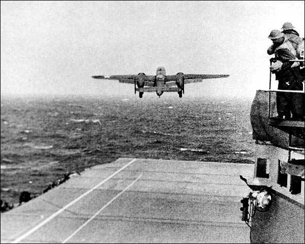 Jimmy Doolittle B-25 USS Hornet Launch WWII Photo Print for Sale