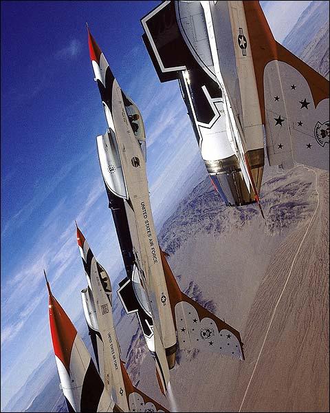 Thunderbirds F-16 Falcons Delta Loop Photo Print for Sale