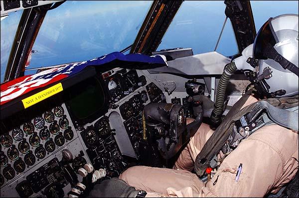 B-52 Bomber Cockpit & Pilot Photo Print for Sale