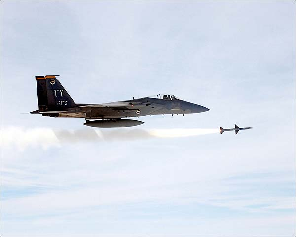 F-15 Eagle Fires Missile US Air Force Photo Print for Sale