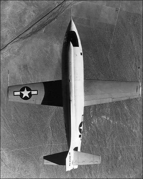 Chuck Yeager Bell X-1 Aircraft in Flight Photo Print for Sale