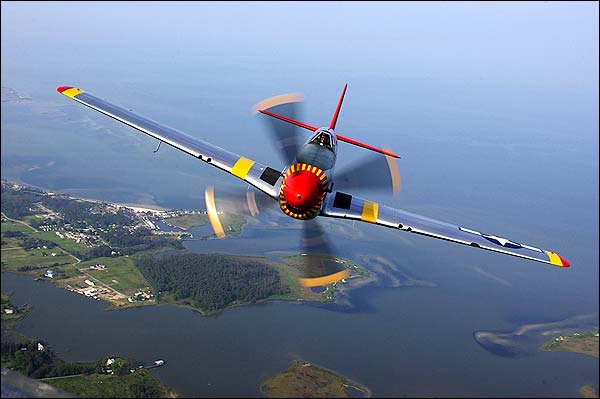 P-51 Mustang Restored WWII Fighter Photo Print for Sale