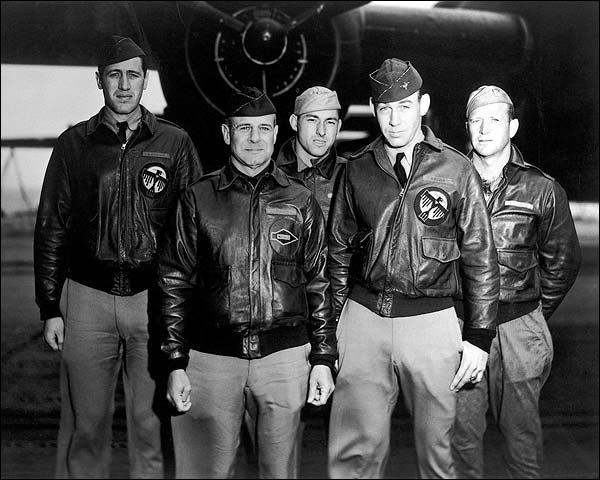 Jimmy Doolittle w/ B-25 & Crew WWII Photo Print for Sale