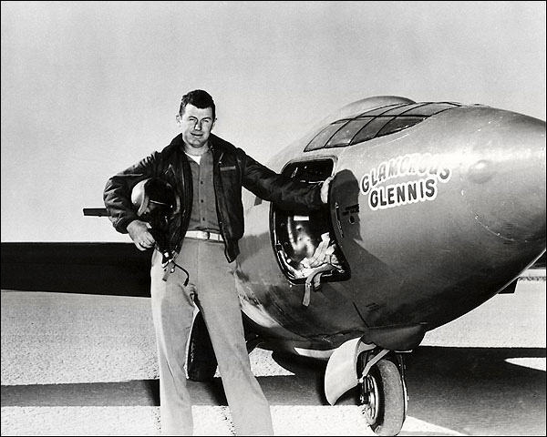 Chuck Yeager w/ Bell X-1 Aircraft Photo Print for Sale