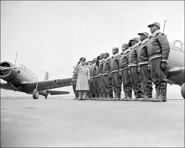 Tuskegee Airmen 1st Class of Cadets WWII Photo Print for Sale