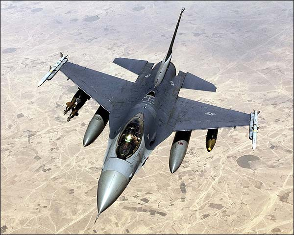 F-16 Fighting Falcon in Flight US Air Force Photo Print for Sale