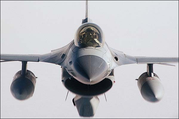 F-16 Fighting Falcon Head on View Photo Print for Sale