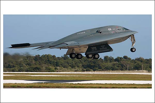 B-2 Spirit Stealth Bomber Taking Off Photo Print for Sale