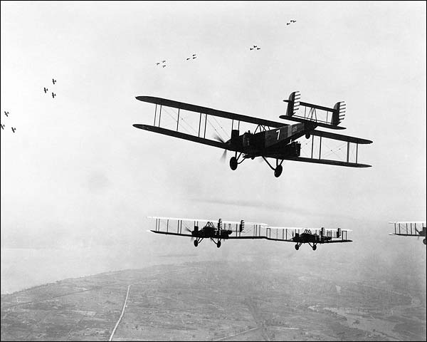 Early American Biplane Bomber Aircraft Photo Print for Sale