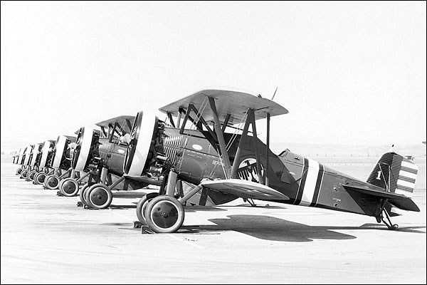 Boeing P-12 Aircraft Flight Line Photo Print for Sale