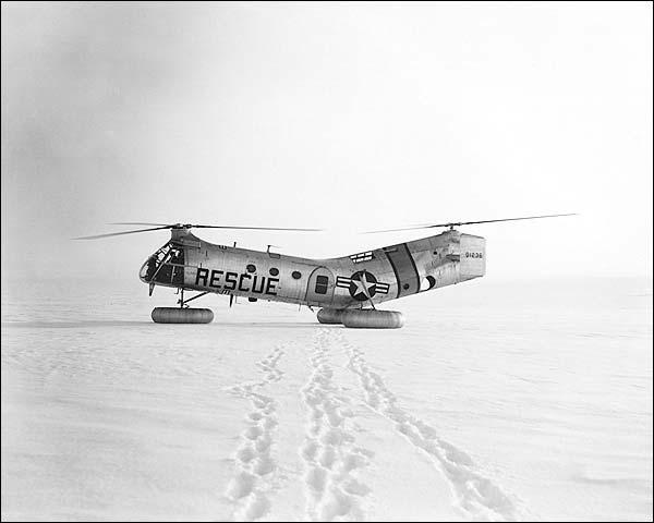 Piasecki H-21 Flying Banana Helicopter Photo Print for Sale