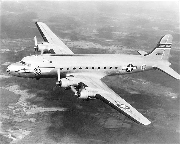 Douglas C-54 Skymaster USAF Mats Transport Photo Print for Sale