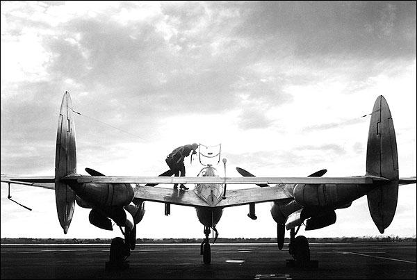 Lockheed P-38 Lightning at Sunset Photo Print for Sale